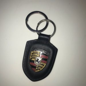Porsche Real Leather KeyChain
